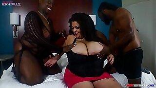 sexy video: Huge tits Latina fucking on the couch