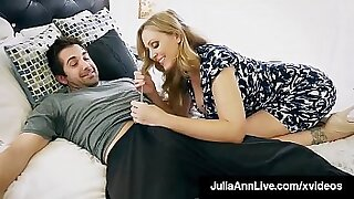 sexy video: Step mom Tara shows to her sons hubby how to fuck a huge cock