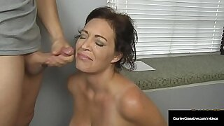 sexy video: Hot Dutch MILF Security Officer Tugs Happy Husband With Fucked By Cock On The Basement Floor