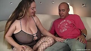 sexy video: Hawt brunette with big tits rides her fat cock