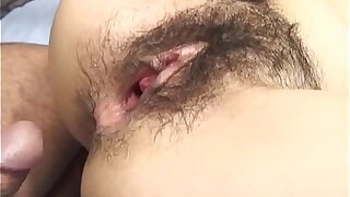 sexy video: Ren Asano fucked deep in her furry pussy and ass