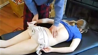 sexy video: Dad massage daughter fucked her