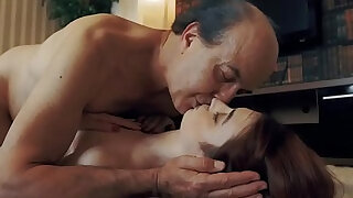sexy video: Innocent Teen Swallows and Spits cum after Romantic Sex with Grandpa