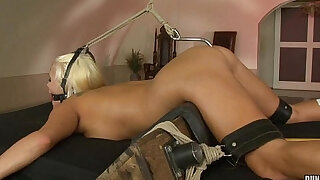 sexy video: Blonde Jess abused and anal hooked