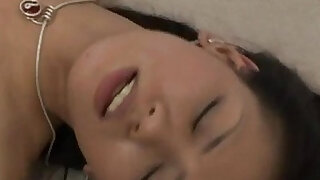 sexy video: Kaede Matushima gets his cock and cum in mouth and dark hairy wet pussy