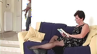 sexy video: Old mom and her tipsy step son