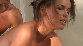 sexy video: Natural tits painful anal