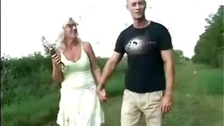 sexy video: mom and son outside