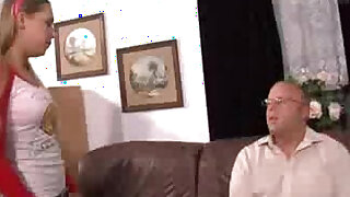 sexy video: Curious daughter fucked by daddy