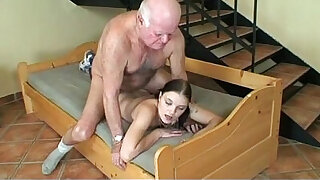 sexy video: lucky day for grandpa