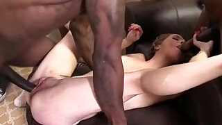 sexy video: Teen Beckie Lynn Creampied by Black monster Cocks