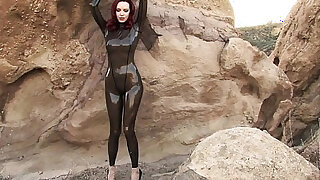 sexy video: Emily Marilyn fetish model in latex catsuit