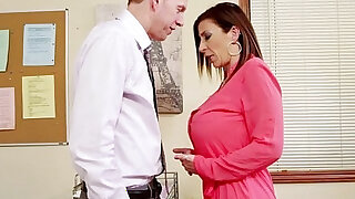 sexy video: Brunette milf sara jay fucking in the office