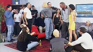 sexy video: German classic filthy mother and daughter sperm party