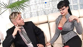 sexy video: Secretary uses her ass and her tallents to get a raise