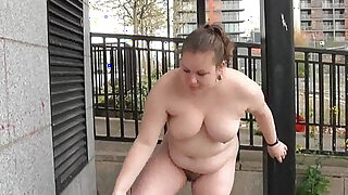 sexy video: Fat Charlie nude in public and exhibitionism