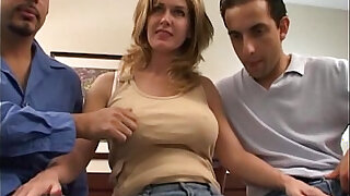 sexy video: Double penetration with busty wife