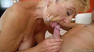 sexy video: Young granny almost paid one hell of a bang