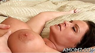 sexy video: Hot mature lady fucks her cock with a vibrator