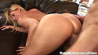 sexy video: Awesome blonde with big tits and pierced pussy herself
