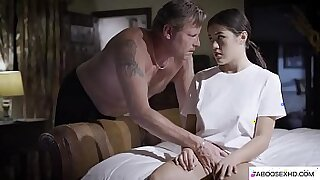 sexy video: Sexy Tiny Stepdaughter Forced By Black BBC